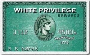white privilege card