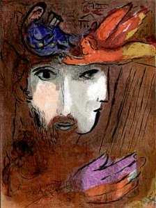 David and Bathsheba. By Marc Chagall.
